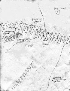 map of aneri, areaer, return of the dragonriders, YA fantasy fiction, raina nightingale