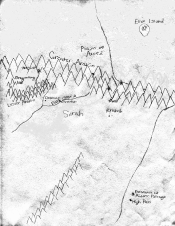 map of aneri, areaer, return of the dragonriders, YA fantasy fiction, raina nightingale