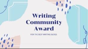 WritingCommunity Blog Award Logo